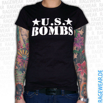 "U.S. BOMBS ""LOGO"" Girlie, black Punk Skate Duane Peters"