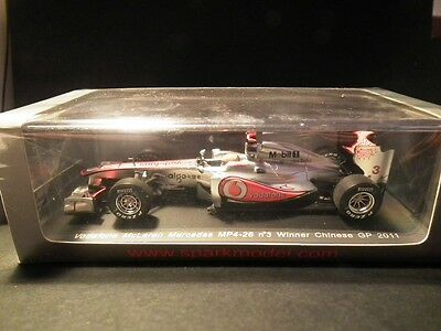 SPARK 2011 HAMILTON MCLAREN MERCEDES MP4-26 WINNER CHINESE GP  1:43 new