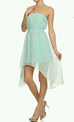 b9a51680 LC LAUREN CONRAD Mint Green Dress SZ 6 Illusion Neckline Polka Dot ...