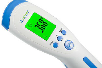 Rycom Non Contact Infrared Thermometer Body Surface RoomTemperature Talking 7in1