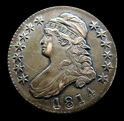 1814 Silver United States Capped Bust Half Dollar Extra Fine Condition
