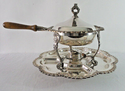 Sherwood Cranford Chafing Dish Silver Plate Food Warmer Serving Set Rotating