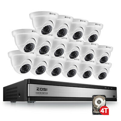 ZOSI 8 Channel 1080P DVR 720p Outdoor Home Surveillance Security Camera System
