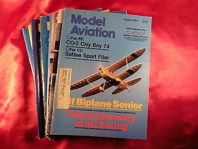 Vintage Model Aviation Magazine Lot 10 Issues