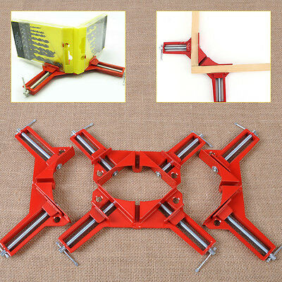 """4PCS 3"""" Right Angle Miter Corner Picture Frame Clamp Holder Woodwork 90 Degree"""