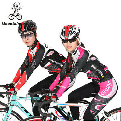 Two Genders Ciclismo Cycling Jersey Pants Sets Long Sleeve Bicycle Wear Clothing