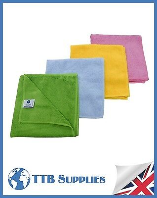 RED Microfibre Cloths Quality Split-Fibre(Pack x10)Cleaning Glass Car Polish