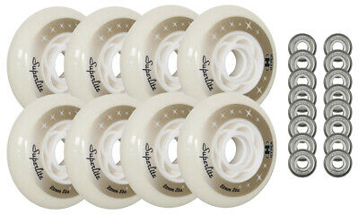 HYPER Inline Wheels SUPERLITE 8-PACK WITH BEARINGS 84MM 82A WHITE