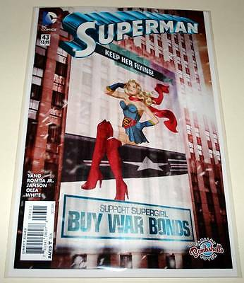 SUPERMAN # 43  DC Comic Oct 2015  NM   BOMBSHELLS VARIANT COVER EDITION