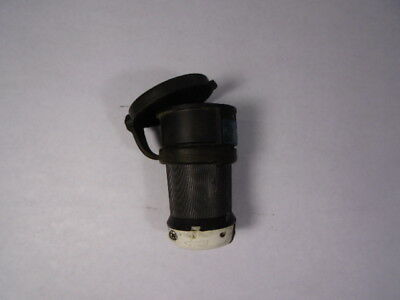 Hubbell HBL2423SW Twist-Lock Connector with Shroud 20amp 250V  USED