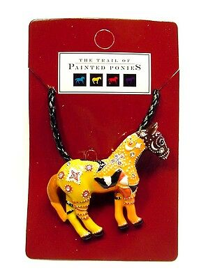 Trail of Painted Ponies Ghost Horse Pin Pendant Necklace F45
