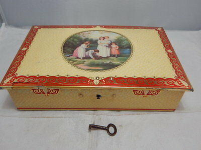 Vintage Collectable Thorne's The World's Premier Toffee Tin With Lock And Key