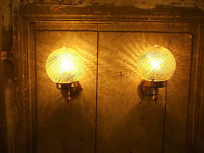French vintage wall light authentic  retro c.1960 glass ball mid century charm