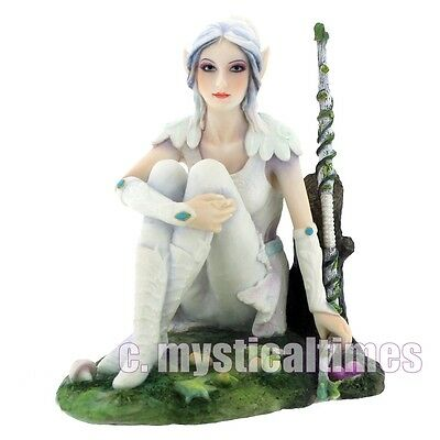 New Alysia White Witch Elven Figurne Ornament From Nemesis Now With Free Post