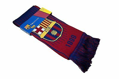 FC BARCELONA SCARF WINTER SOCCER - AUTHENTIC & OFFICIAL MESSI - shipped from USA