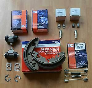 classic mini rear brake rebuild kit shoes springs adjusters cylinders QUALITY MG