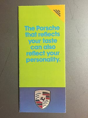1980 Porsche Accessories Showroom Sales Folder, Brochure, Prospekt RARE! (Green)
