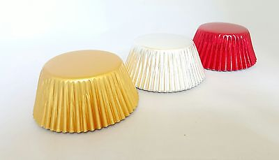 Foil Cupcake Cases Standard Size RED - SILVER - GOLD