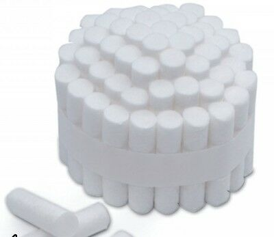 "Dental Cotton Rolls 1-1/2"" (# 2) (Medium Diameter 3/8"") *FREE SHIPPING*"