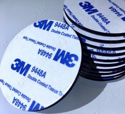 3M 9448A DIAMETER 35mm CIRCLE BLACK DOUBLE COATED TAPE ADHESIVE PAD 2mm THICK HQ