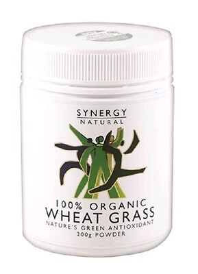 Synergy Natural Wheat Grass Organic powder 200g