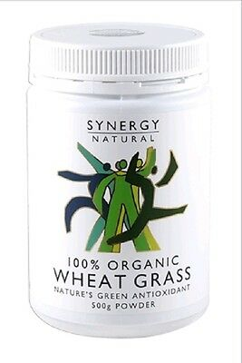 Synergy Natural Wheat Grass Organic powder 500g