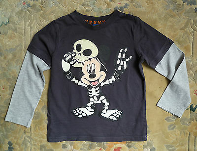 Kids/childrens clothes BOY 4-5 years Disney Mickey Mouse skeleton Halloween