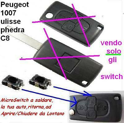 Micro Switch Pulsante Cover Chiave Peugeot 1007 Fiat Ulisse C8 Phedra 4 Tasti