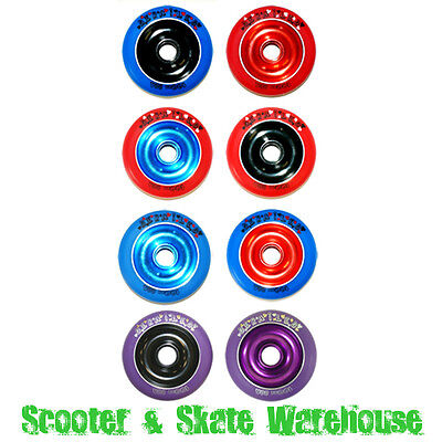 METAL CORE SCOOTER WHEELS 100mm 88a WITH BEARINGS - FREE DELIVERY
