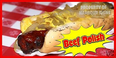 """Beef Polish Decal 12"""" Hot Dogs Concession Food Truck Restaurant Sticker"""