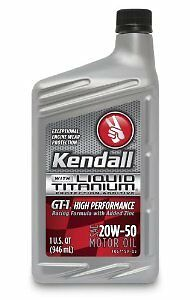 Kendall 5277138 GT-1 Synthetic Blend 20W50 Motor Oil - Quart