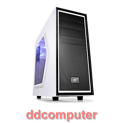 Deepcool Tesseract SW Gaming Mid Tower Desktop PC White Computer Case No PSU