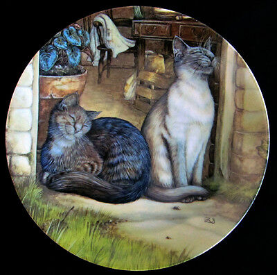 """SUNSHINE"" Zoe's Stokes Plate American Artists Cat Kitty COA MINT"