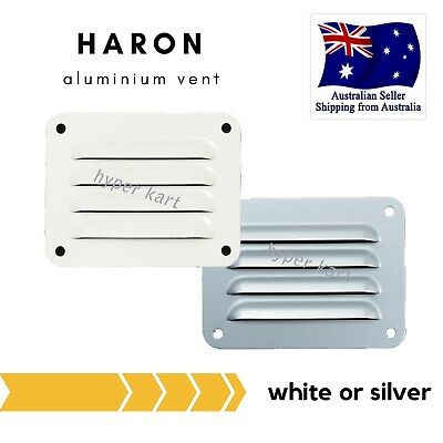 Haron Aluminium House Caravan Wall Cupboard Louvre Eave Air Vent 100 x 75mm