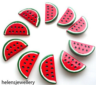 10 Large Melon Slices Kitch Cabochons Kawaii Decoden - Fast Shipping