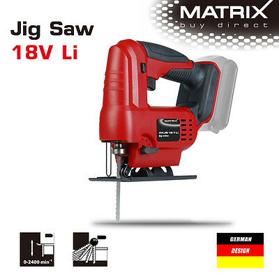 NEW MATRIX 18v Cordless Jig Saw Jigsaw (saw only, no battery)