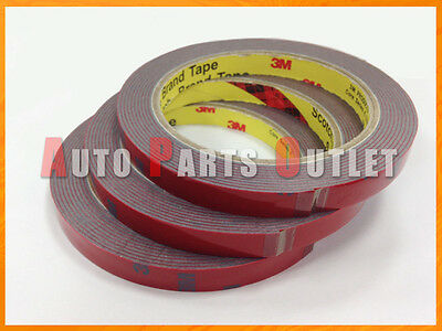 Three Rolls of 3M Automotive Use Acrylic Foam Adhesive Double Sided Tape