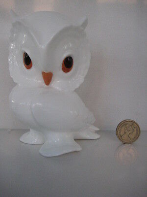 Rare Vintage   Royal Osborne White Bone China  Owl  1419