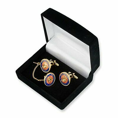 U.S. Marine Corps Cuff Links and Tie Tack in Gift Box