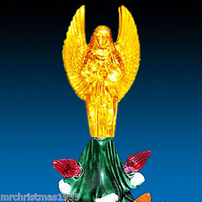 New Ceramic Christmas Tree Lovely Large Winged Gold Angel / Star Topper **RARE**