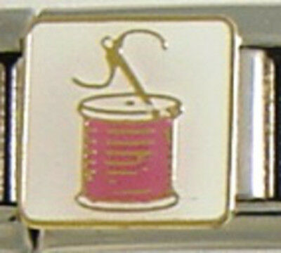 1 Pink Sewing Thread 9MM NEW Stainless Steel Italian Charm Brand New!