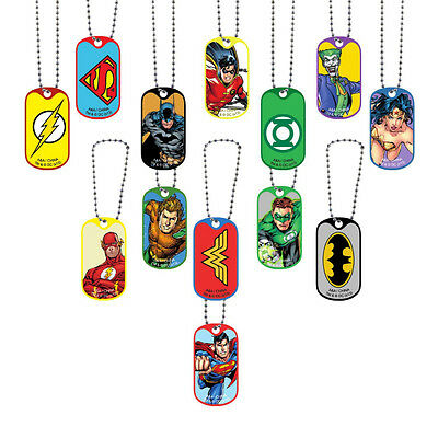Lot Of 24 Dc Comics Dog Tags 2 Dozen Keychains, Batman Vs Superman Wonder Woman