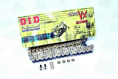 DID 525 x 120 Links VX Pro-Street Series Xring Sealed Gold Drive Chain