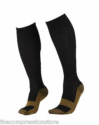 Copper Compression Socks Knee High Mens and Womens Support Pain Relief Stockings