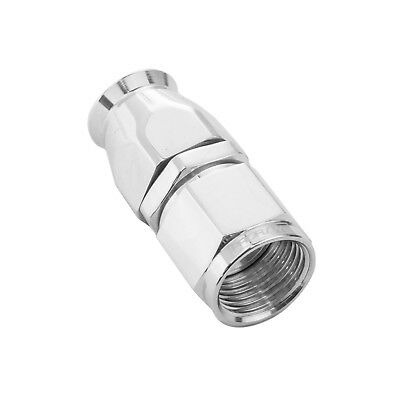 Proflow 201-08DHP Aluminium Straight Fitting Hose End -08AN For PTFE Polished