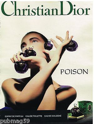 Publicité Advertising 1989 Parfum Poison par Christian Dior