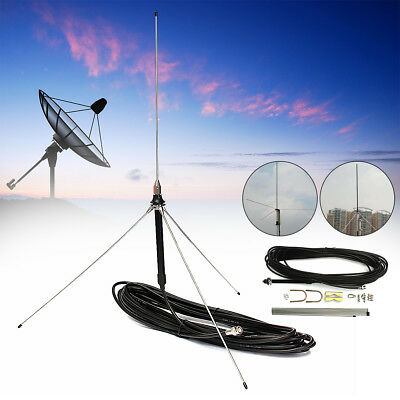 15M Cable Powerful 1/4 Wavelength GP Antenna for 0.5-30W Watt FM Transmitter