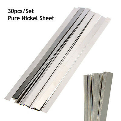 30PCS Pure 99.96% Low Resistance Nickel Ni Metal Strap Sheet 0.1 x 4 x 100 mm