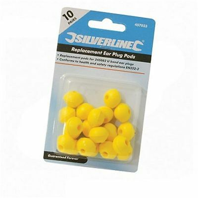 Silverline Replacement Pods - 10 Pairs (pods) - Safety & Workwear Ear Protection