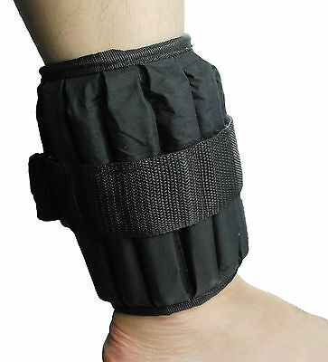 UK Warrior Adjustable Ankle Wrist Weights Fitness Running Jogging Strap 10 LBS